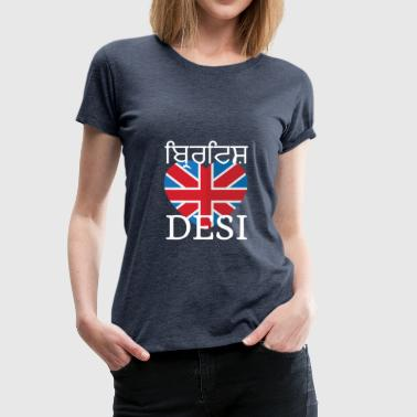 BRITISH DESI - Women's Premium T-Shirt