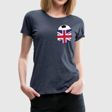 Breasts Football Football England in the breast pocket - Women's Premium T-Shirt