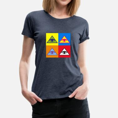 Free Masons Masonic pyramid - Women's Premium T-Shirt