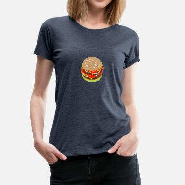 Hamburger Blagues hamburger - T-shirt Premium Femme