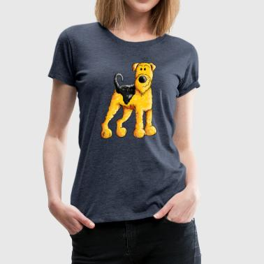 Airedale Happy Airedale Terrier - Dog - Cartoon - Gift - Women's Premium T-Shirt