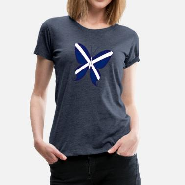 Scottish Independence Scottish Butterfly - Women's Premium T-Shirt