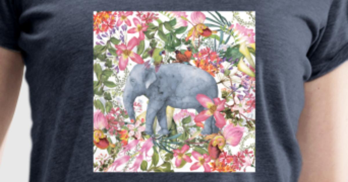 Elefant im Blumen Dschungel von UtArts   Spreadshirt