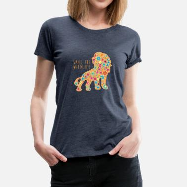 Save Wildlife SAVE THE WILDLIFE LION - Women's Premium T-Shirt