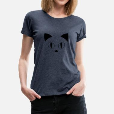 Pussy Face Hand Drawn Cute Cat Face - Frauen Premium T-Shirt