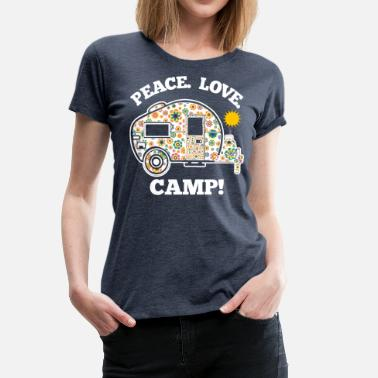 Hippie Peace Love Camp - Vrouwen Premium T-shirt
