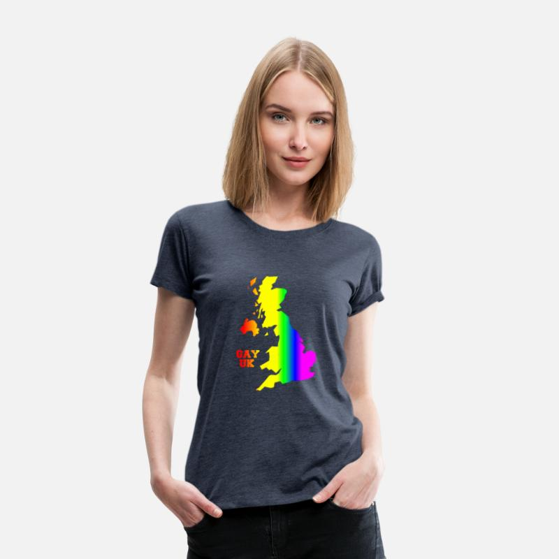 Gay T-Shirts - GAY UK - Women's Premium T-Shirt heather blue