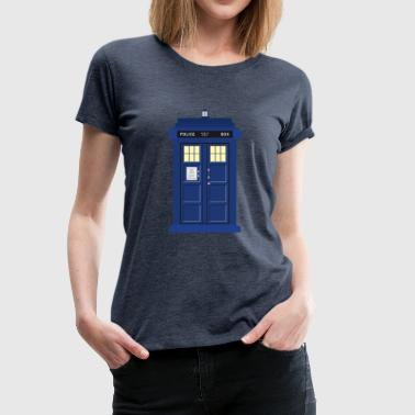 Tardis print Doctor Who - Women's Premium T-Shirt
