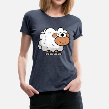 Studio Geek Dessin animé Comic Sheep - T-shirt Premium Femme