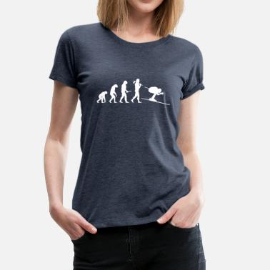 Aprèsski Evolution of the skier - Women's Premium T-Shirt