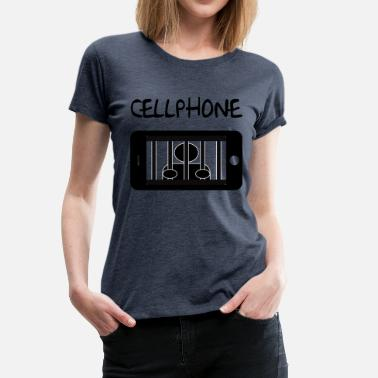 Mobile Cell Phone Mobile cell jail and detainee - Women's Premium T-Shirt