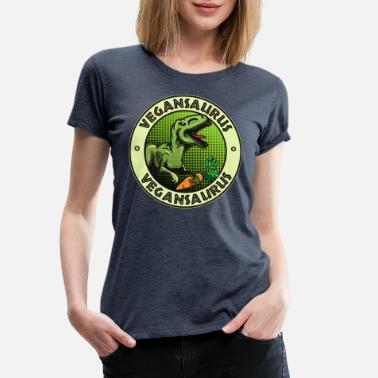 Animal Rights Vegansaurus - Vrouwen premium T-shirt