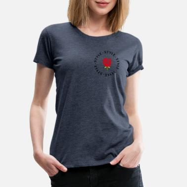 Chic STYL STYLE / ROSE ROUGE - T-shirt premium Femme