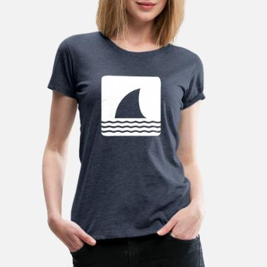 Shark Fin Shark shark fin shark fin waves sea - Women's Premium T-Shirt