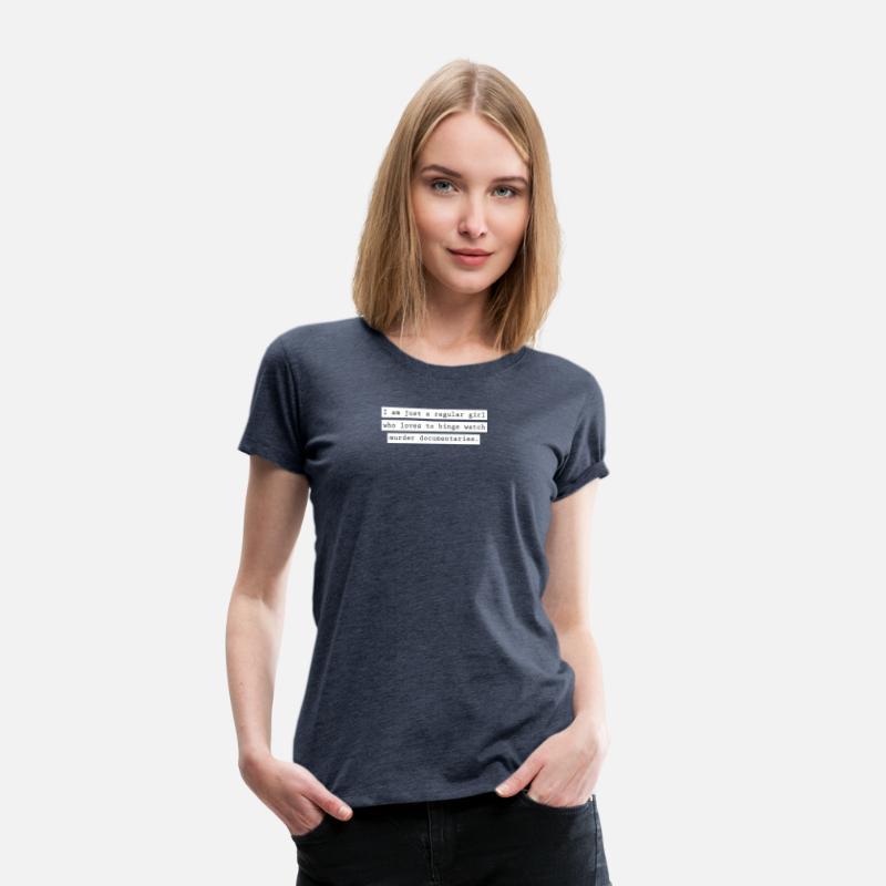 en almindelig kvinde Dame premium T shirt blåmeleret