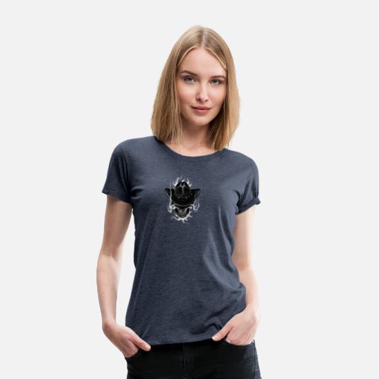 Cowboy skull tattoo drawing Women's Premium T-Shirt