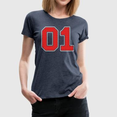 Number 01 Number Number - Women's Premium T-Shirt