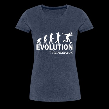 Evolution Tischtennis - Frauen Premium T-Shirt