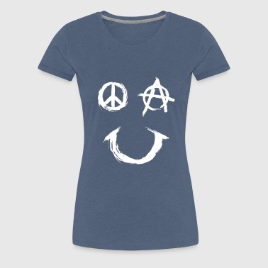 Pace Anarchy Smiley - Vrouwen Premium T-shirt