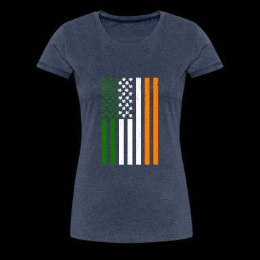 Irish American flag - Women's Premium T-Shirt