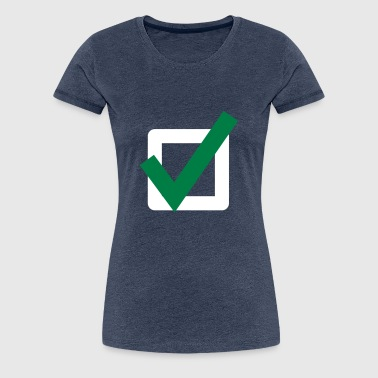 Hook Check Mark Icon Icon - Women's Premium T-Shirt
