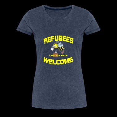 Refubees Welcome Rescue The Bees Conservation - Women's Premium T-Shirt