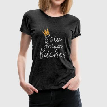 Submissive Bitches Girlfriend BF Party Celebration Bachelor Girl Gang - Women's Premium T-Shirt
