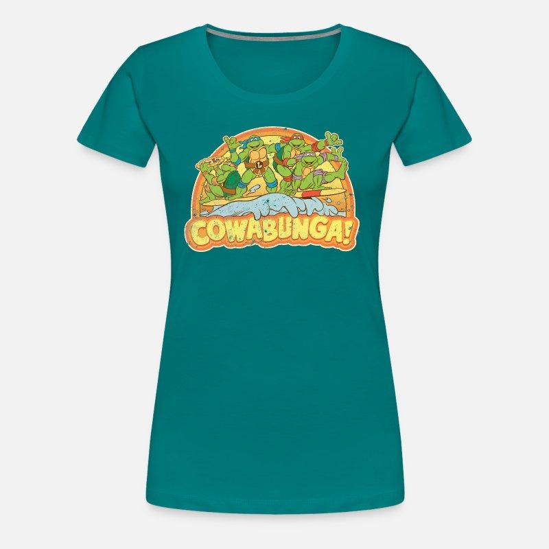 Tmnt surfing turtles por ninja turtles retro spreadshirt ninja teenage  mutant camiseta surfing jpg 800x800 Mujer f0113fcfa7b