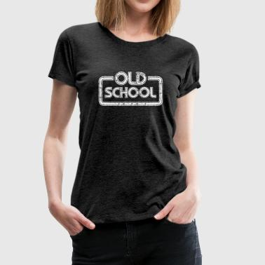 Oldschool - Retro White - Frauen Premium T-Shirt