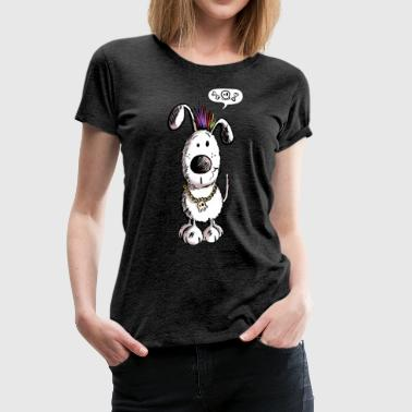 Skull Dog Comic - Fun - Cartoon - Dogs - Women's Premium T-Shirt