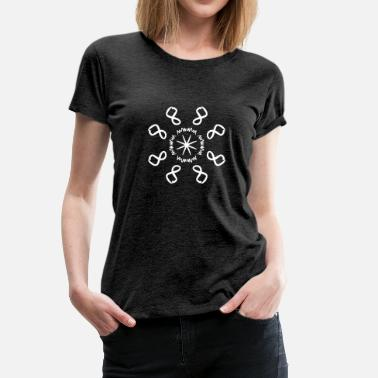 Numeral Ocho Infinity Numeral Energy Abstract Beam White - Camiseta premium mujer