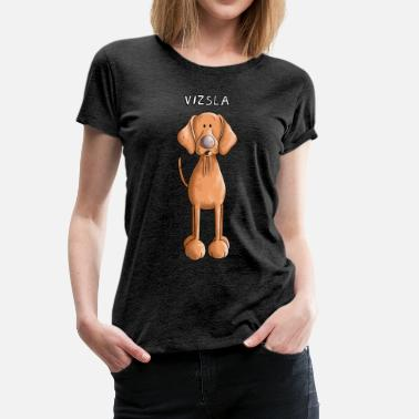 Ungarisch Kinder Happy Vizsla - Frauen Premium T-Shirt