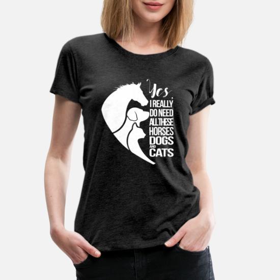 Rieche Nach Pferd Kein Problem Spruch Frauen Premium T-Shirt von Spreadshirt®