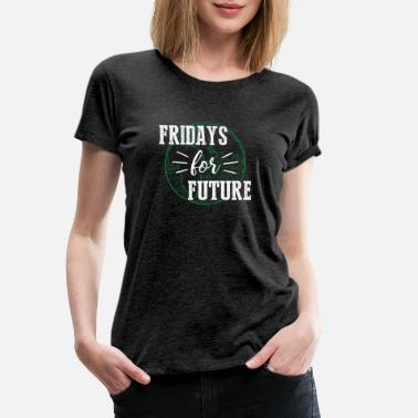 Fridays for Future -withe- - Frauen Premium T-Shirt