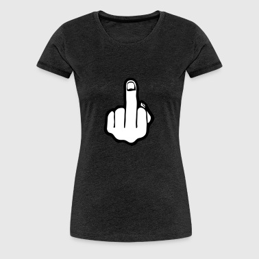 fuck you, middle finger - Premium-T-shirt dam