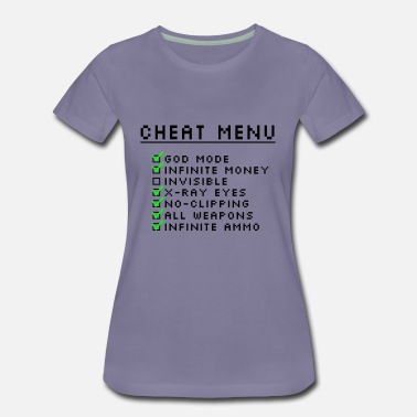 Gaming Cheat Menu - Women's Premium T-Shirt