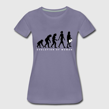 Percussion Evolution der Frau Djembe - Frauen Premium T-Shirt