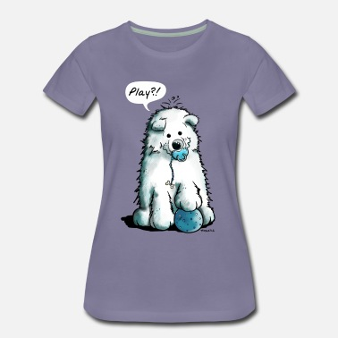 Sabaka Baby Samoyede Play - Puppy - Dog - Dogs - Comic - Women's Premium T-Shirt