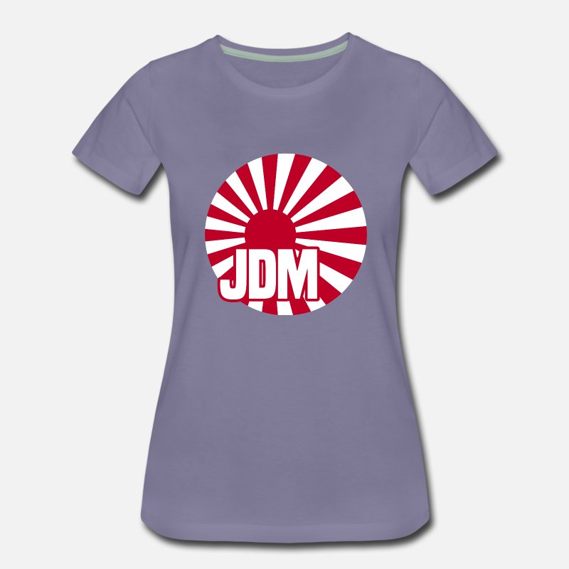 Tuner T-Shirts - JDM Rising Sun White BG - Women's Premium T-Shirt washed violet