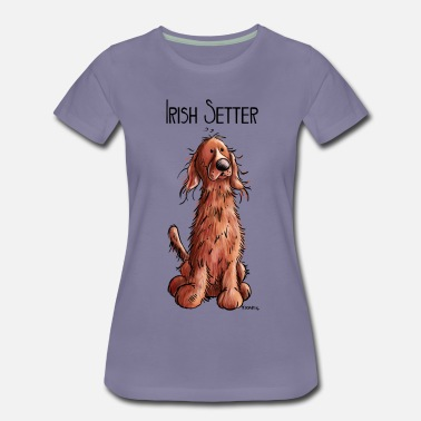 Irish Setter Happy Irish Red Setter - Comic - Dog - Dogs - Pet - Women's Premium T-Shirt