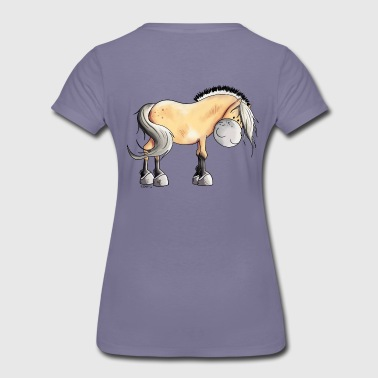Fjord Happy Fjord Horse - Women's Premium T-Shirt