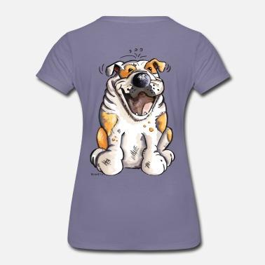 9ecfebd4 Morsom Engelsk bulldog - Premium T-skjorte for kvinner