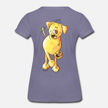 Labrador Cartoon Funny Labrador - Women's Premium T-Shirt