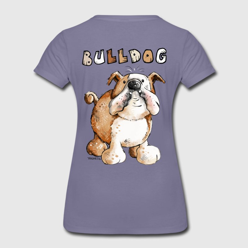 Sweet English Bulldog Cartoon - Women's Premium T-Shirt