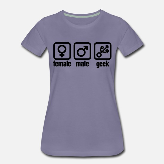 Game T-Shirts - Female - Male - Geek (USB) - Women's Premium T-Shirt washed violet