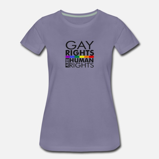 Gay Pride T-Shirts - Gay Rights Are Human Rights - Women's Premium T-Shirt washed violet