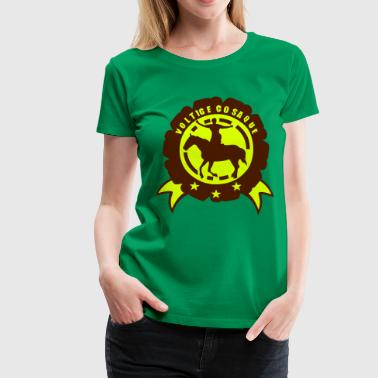 Cosaque voltige cosaque cheval2 logo ecusson fan - T-shirt Premium Femme