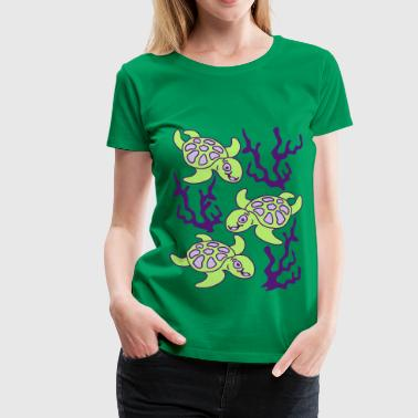 Turtles and Seaweed - Premium T-skjorte for kvinner