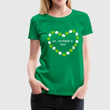 St. Patricks Day Herz Logo Party Beer Bier  - Vrouwen Premium T-shirt