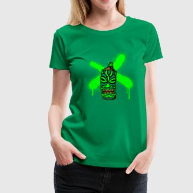SPRAY A CROSS TIKI (P UK) by toneyshirts.de - Women's Premium T-Shirt